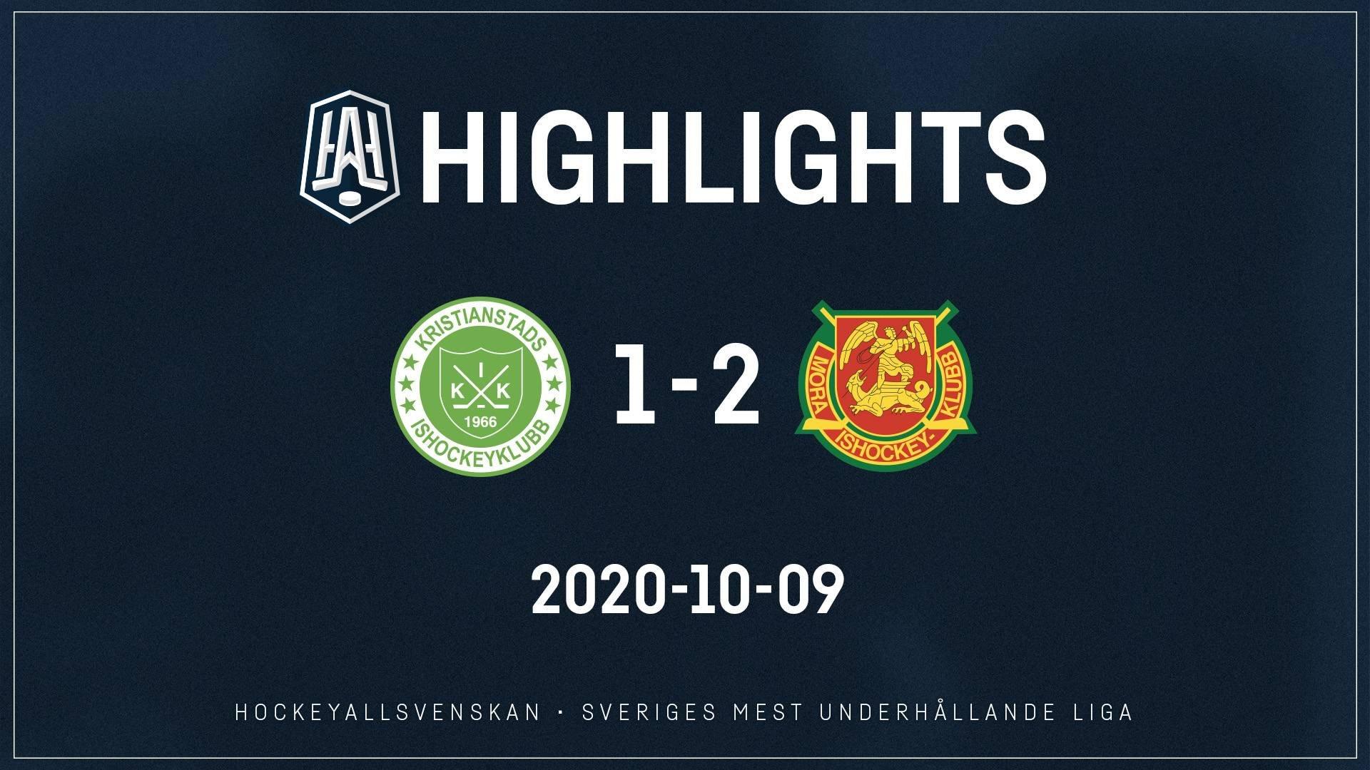 2020-10-09 Kristianstad - Mora 1-2