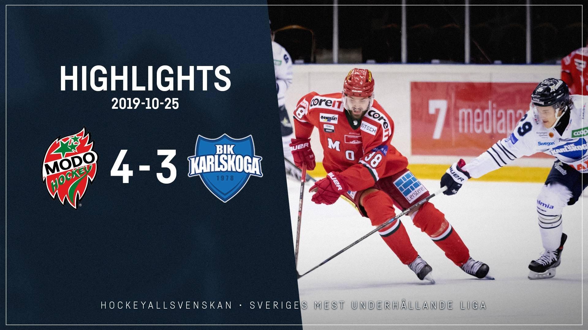 2019-10-25 MODO - Karlskoga 4-3