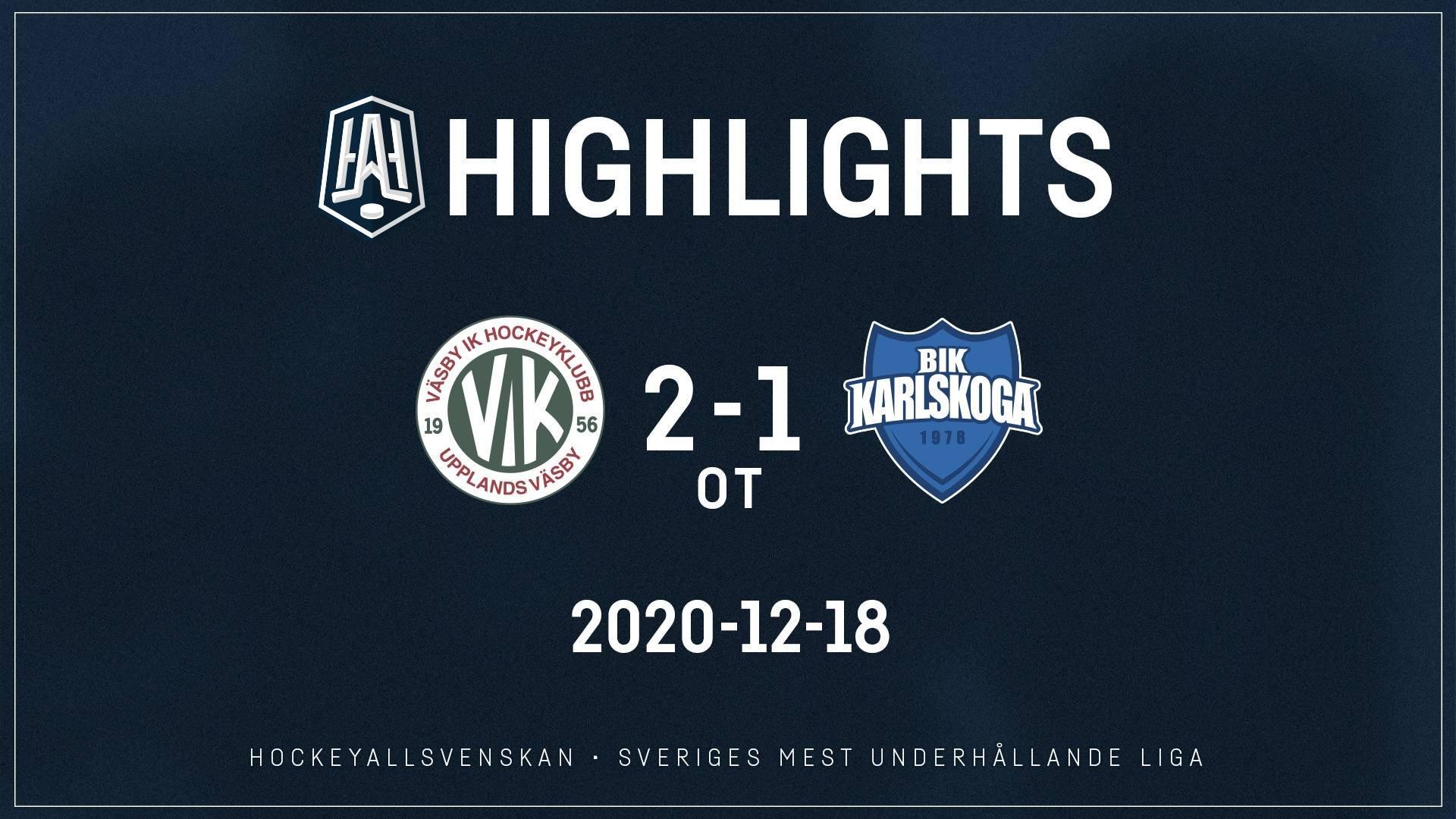 2020-12-18 Väsby - Karlskoga 2-1 (OT)