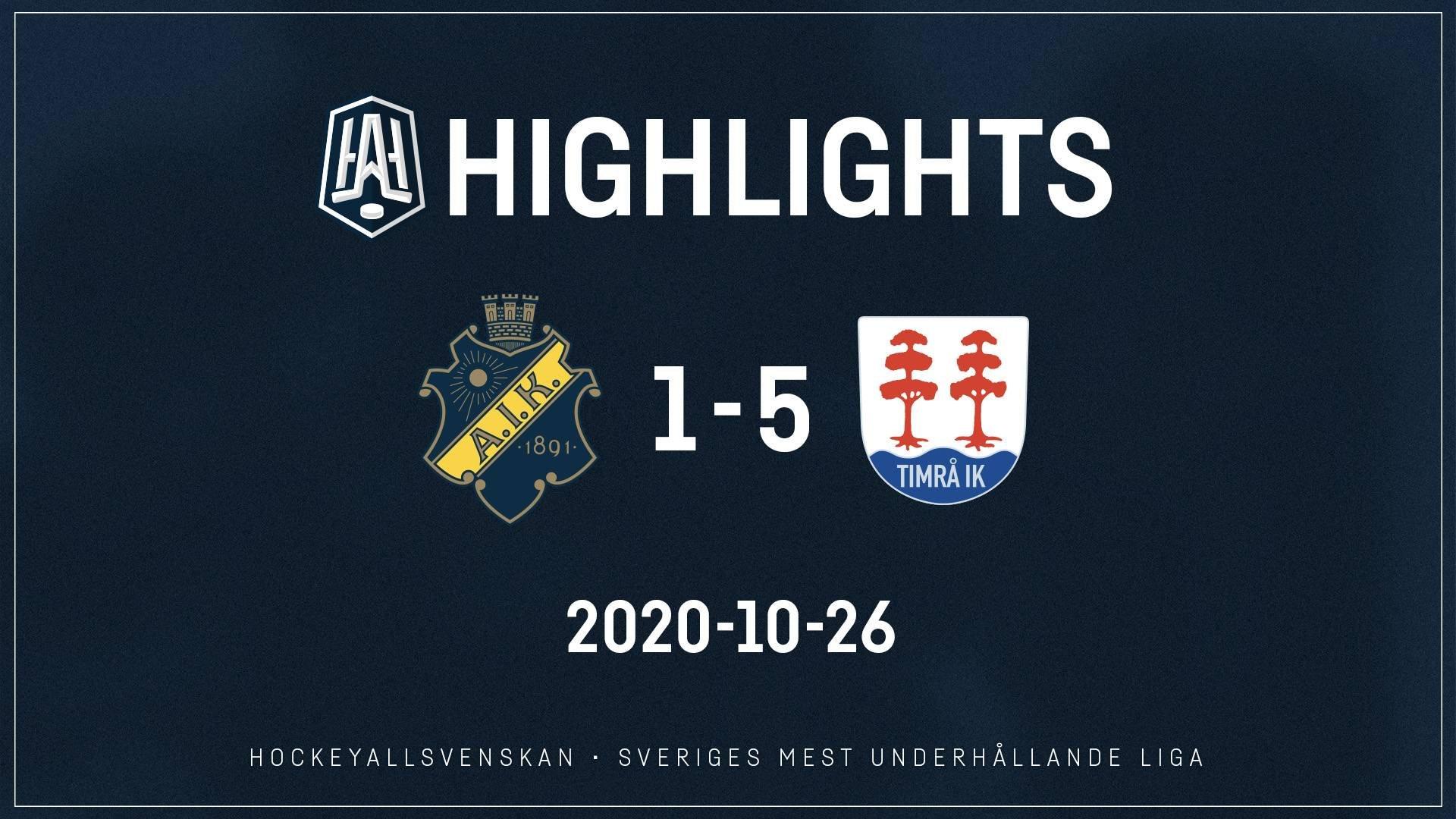 2020-10-26 AIK - Timrå 1-5