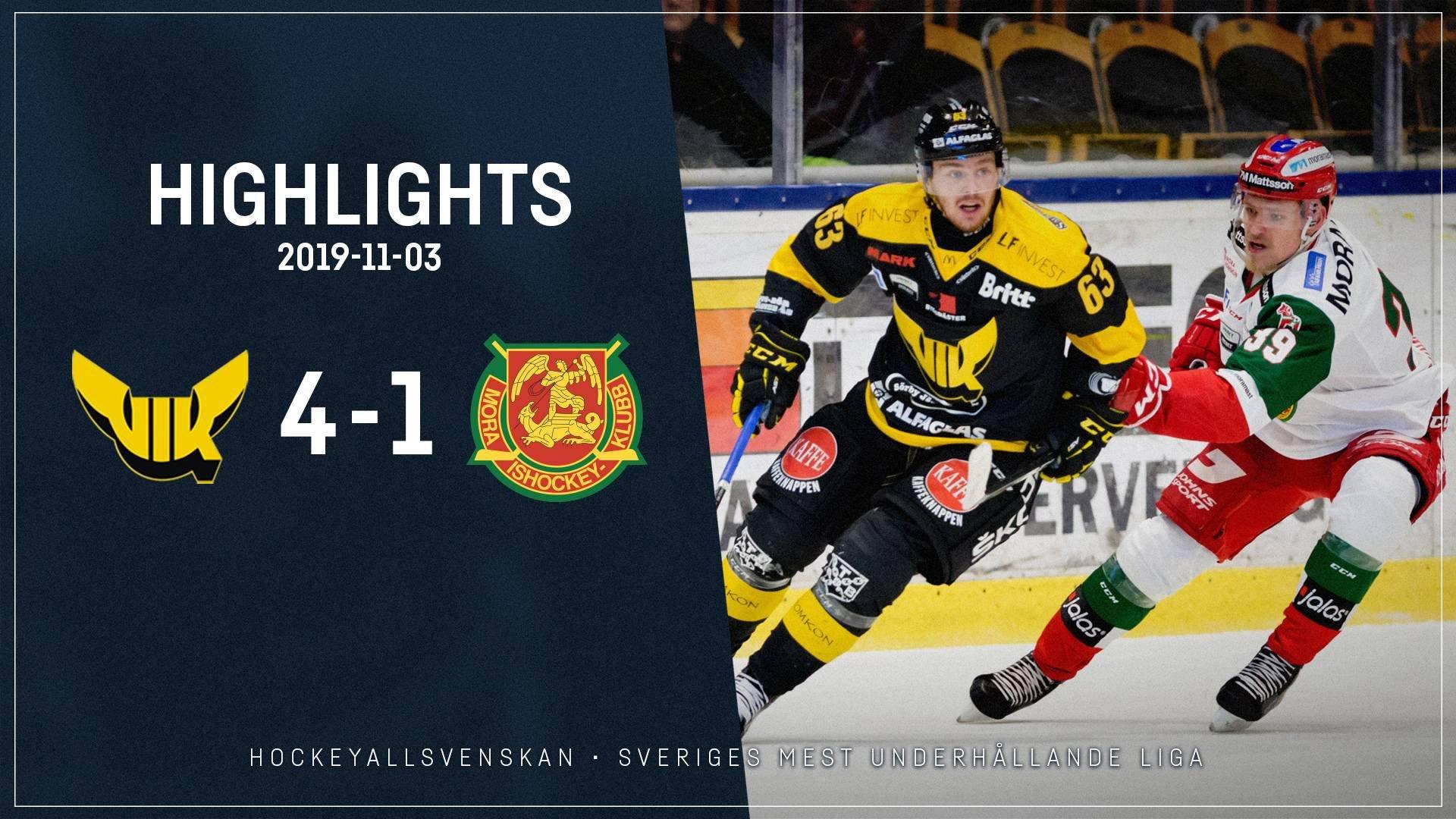 2019-11-03 Västerås - Mora 4-1