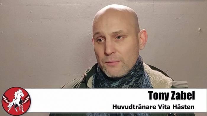 Tony Zabel efter förlusten mot Södertälje