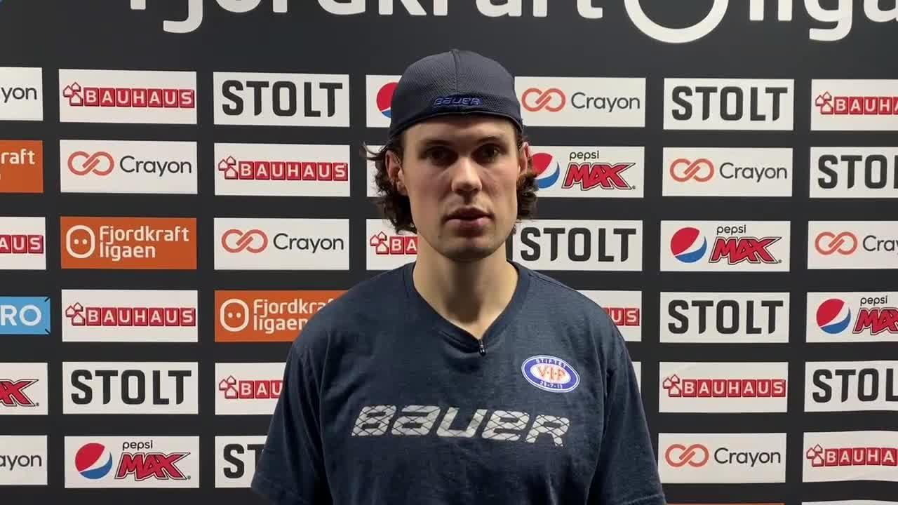 Magnus Brekke Henriksen etter matchen mot MS