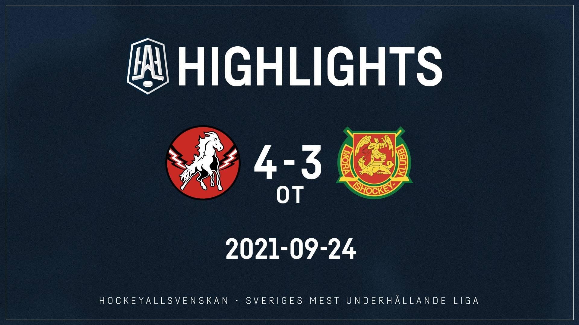 2021-09-24 Vita Hästen - Mora 4-3 (ot)