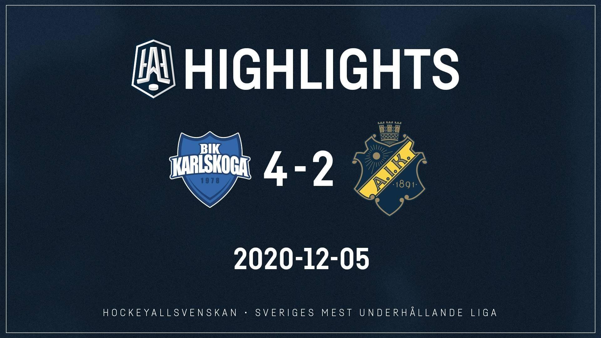 2020-12-05 Karlskoga - AIK 4-2