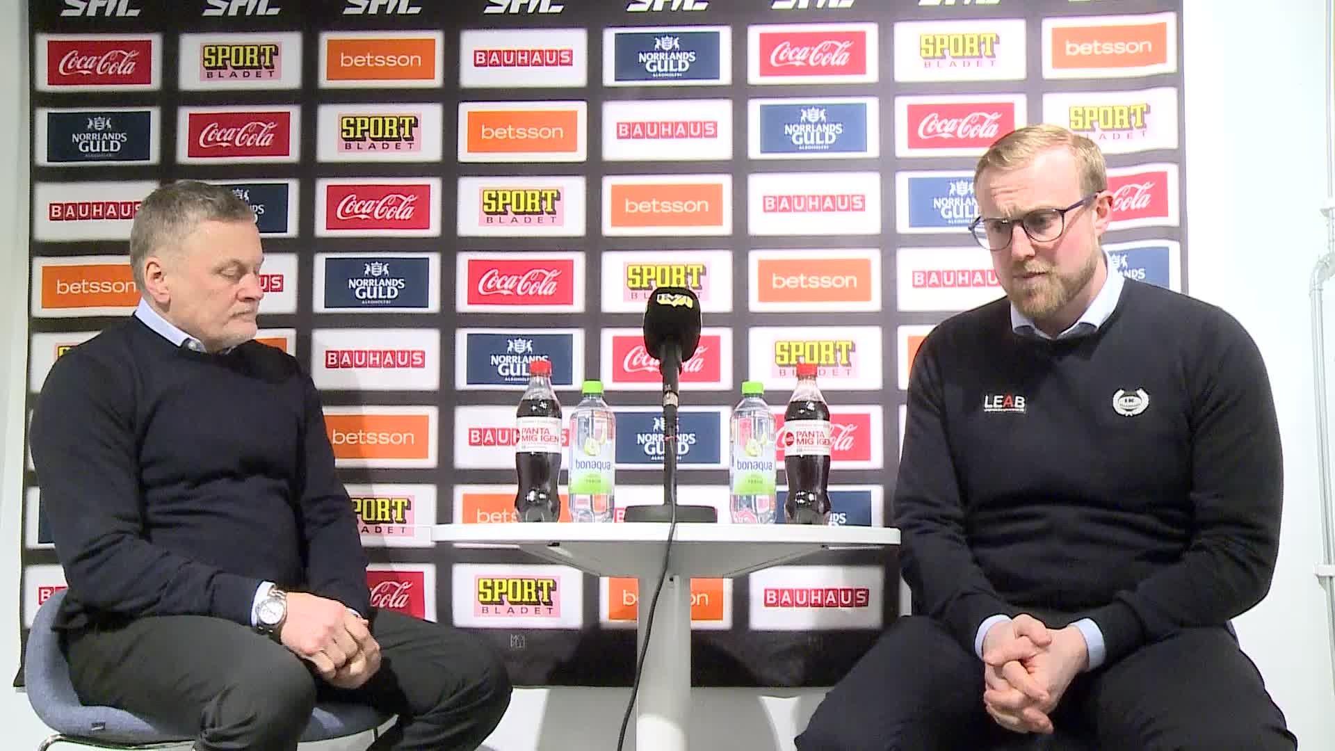 Presskonferens HV71–IK Oskarshamn
