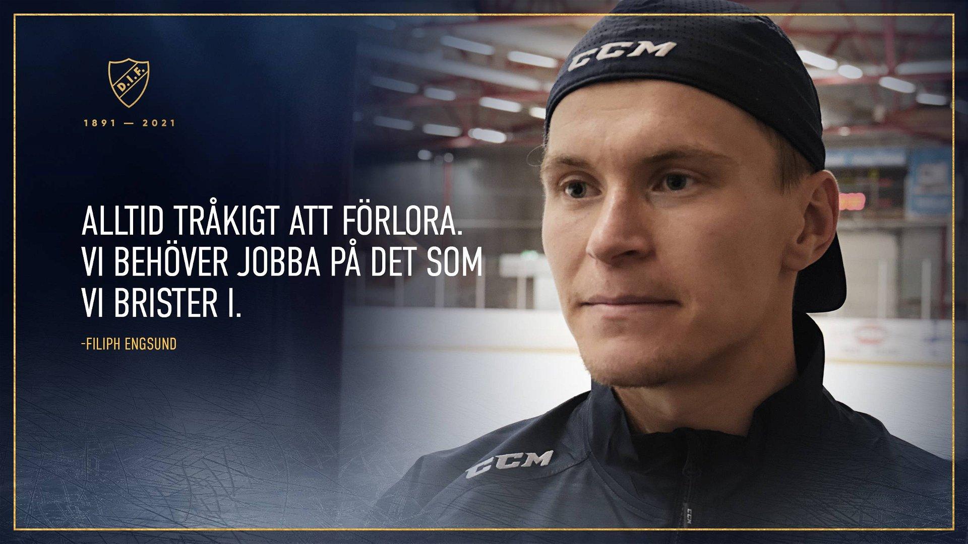 """Filiph Engsund: """"Alltid tråkigt att förlora"""""""