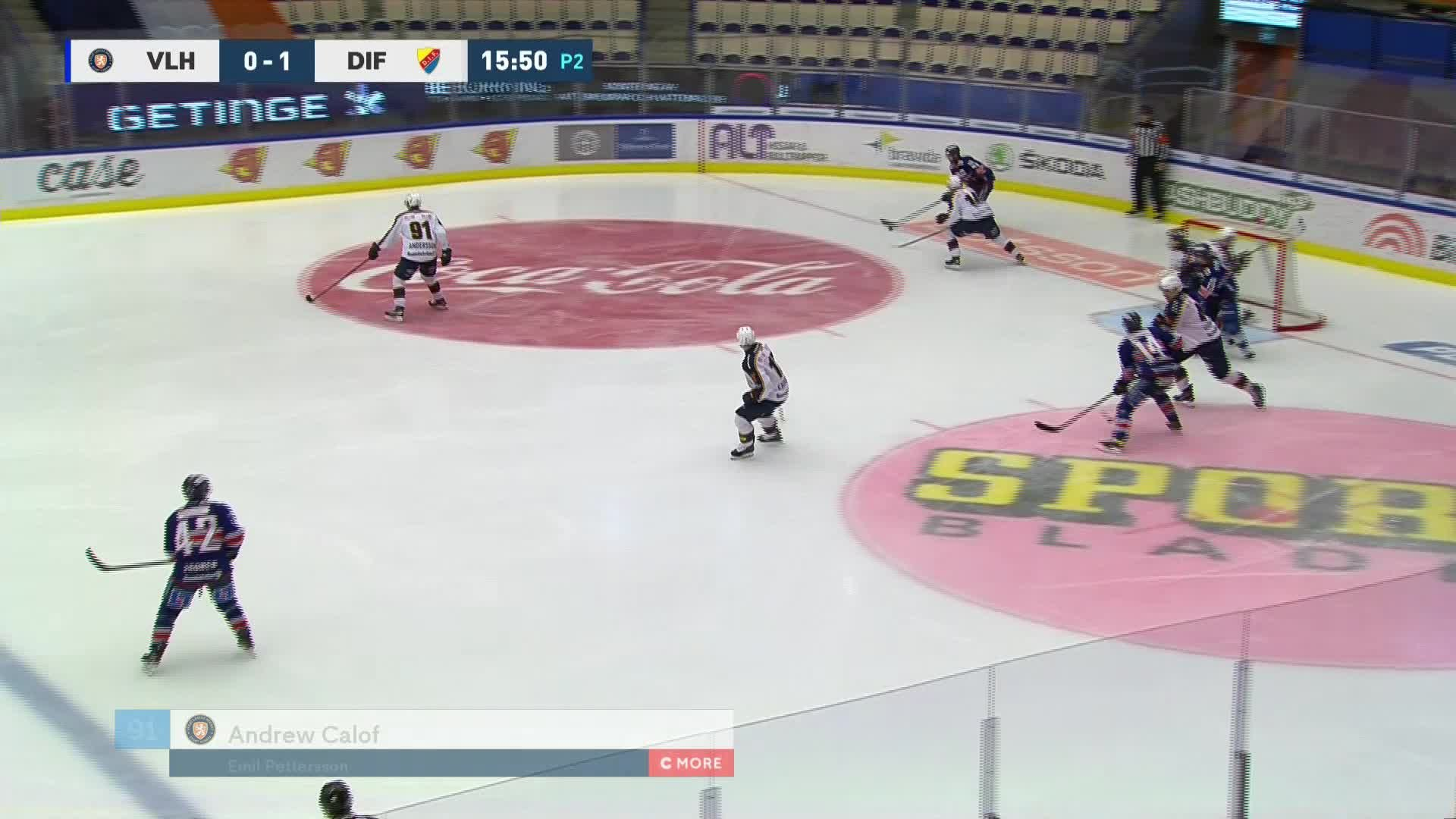 Växjö Lakers - Djurgården Hockey 1-1