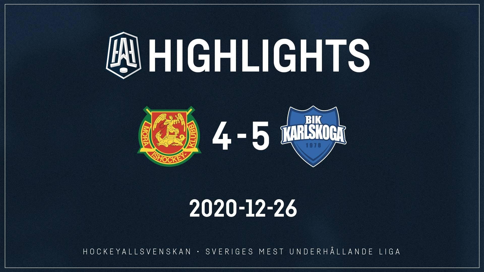 2020-12-26 Mora - Karlskoga 4-5