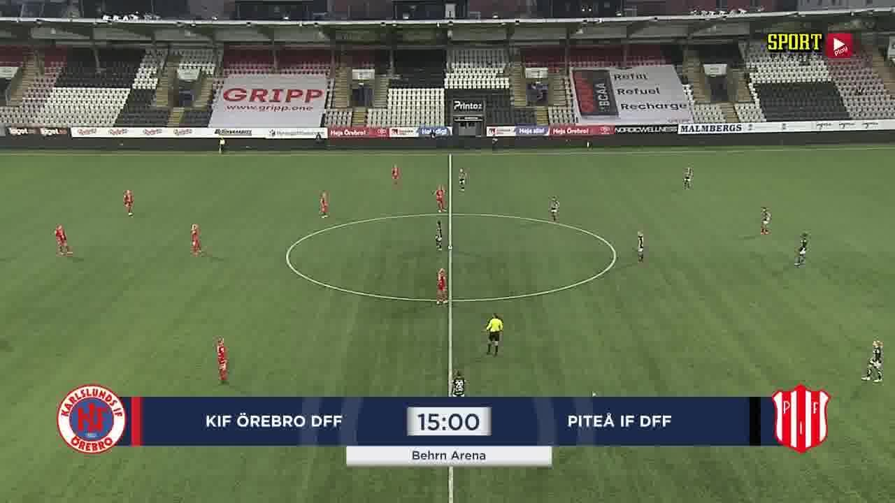 Highlights: KIF Örebro - Piteå 15 nov