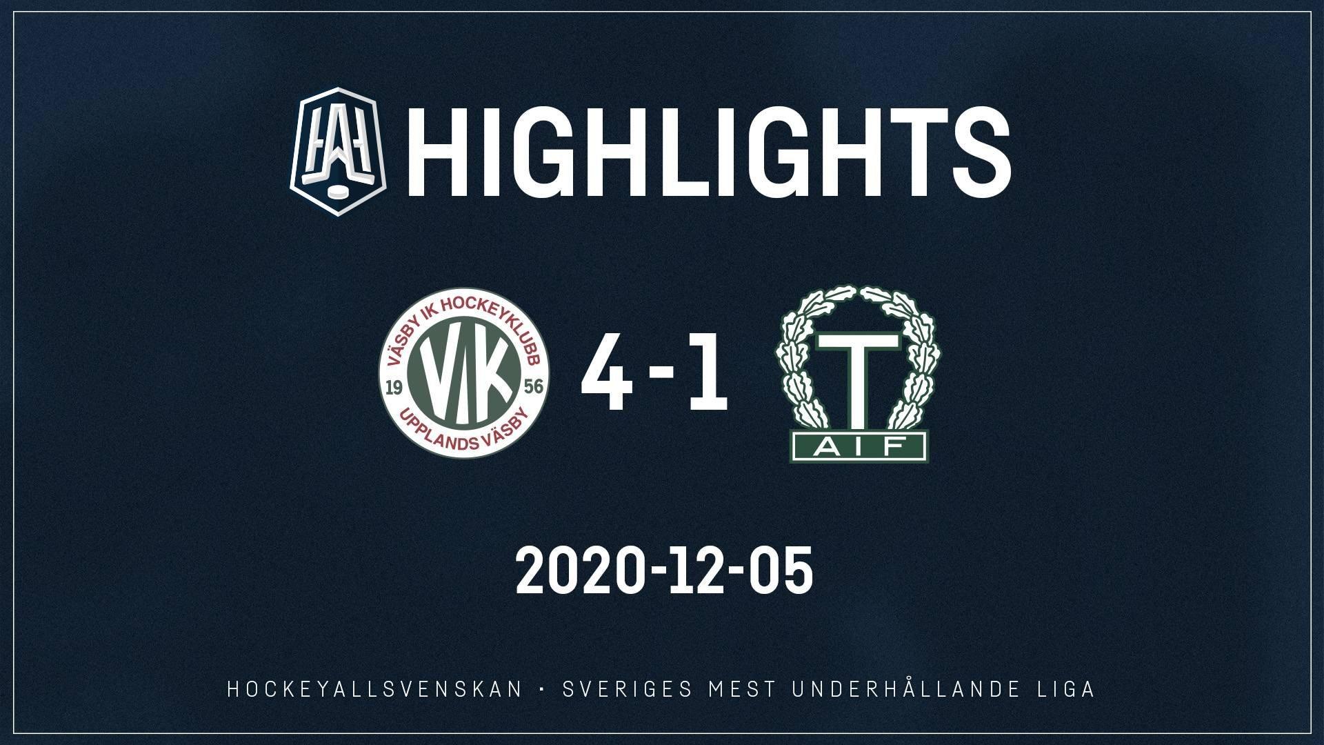 2020-12-05 Väsby - Tingsryd 4-1
