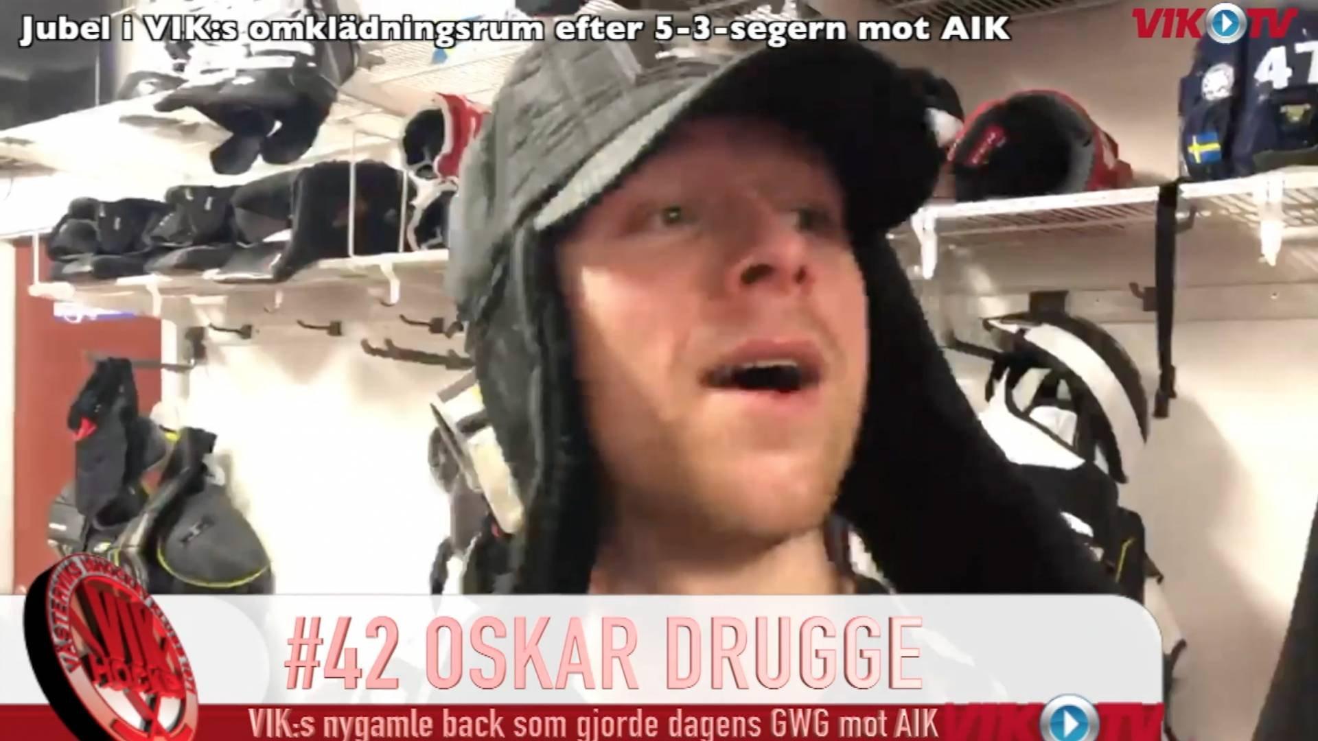 VIK-TV: Omklädningsrumsjubel och intervjuer med Ljung och Alba efter VIK-AIK 5-3