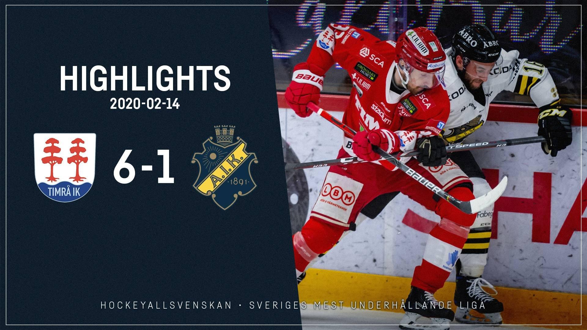 2020-02-14 Timrå - AIK 6-1