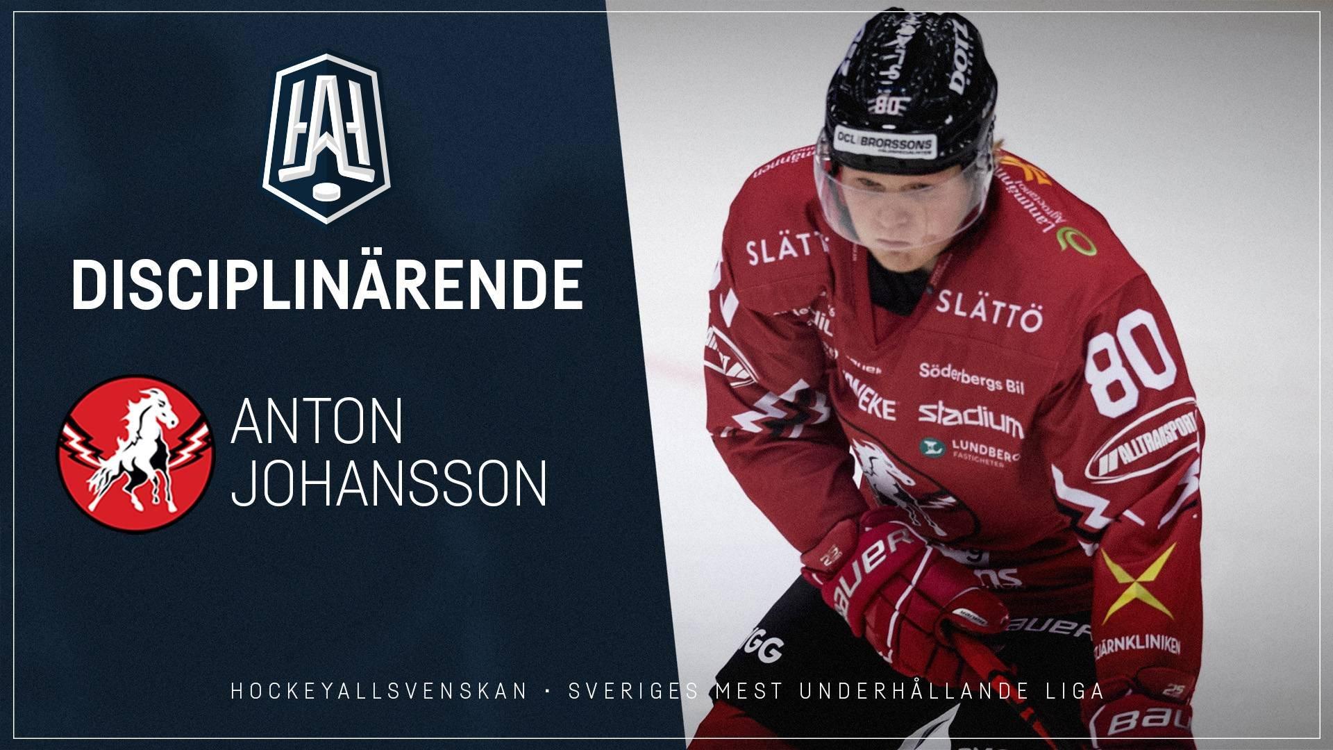 Disciplinärende: Anton Johansson, Vita Hästen