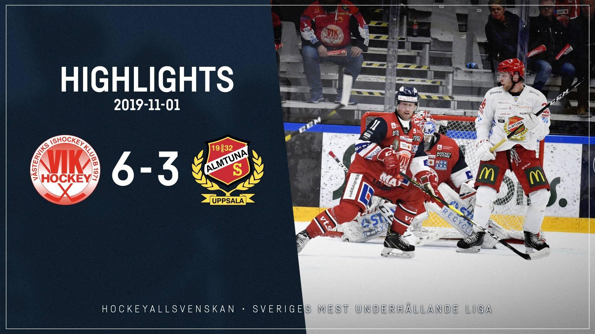 2019-11-01 Västervik - Almtuna 6-3