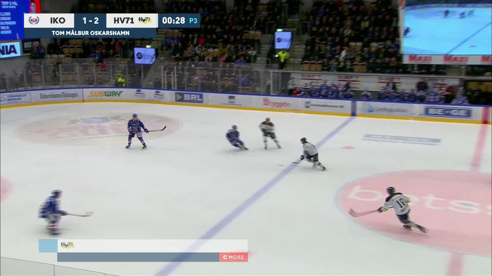 IK Oskarshamn - HV71 1-3