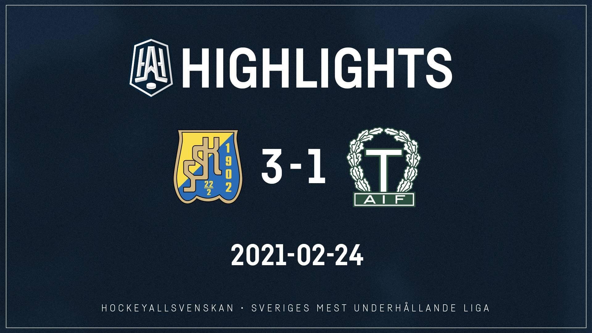2021-02-24 Södertälje - Tingsryd 3-1