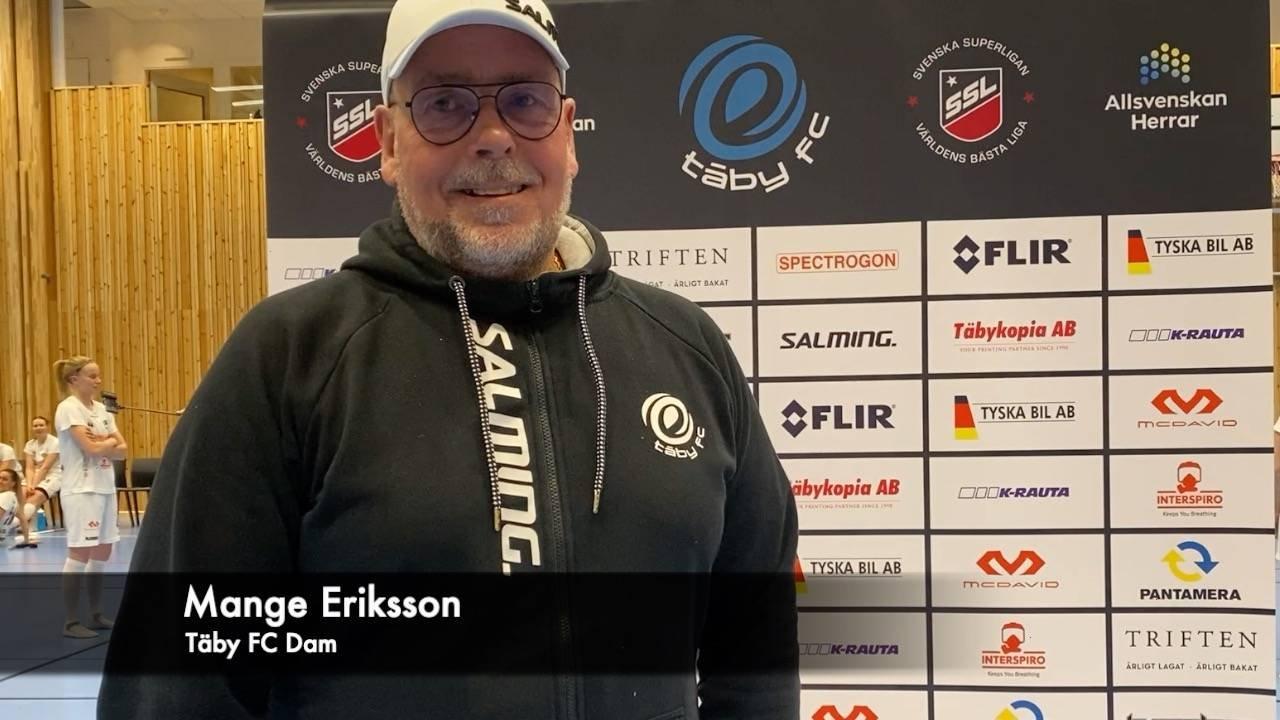 Intervju med Mange Eriksson efter Pixbo-segern