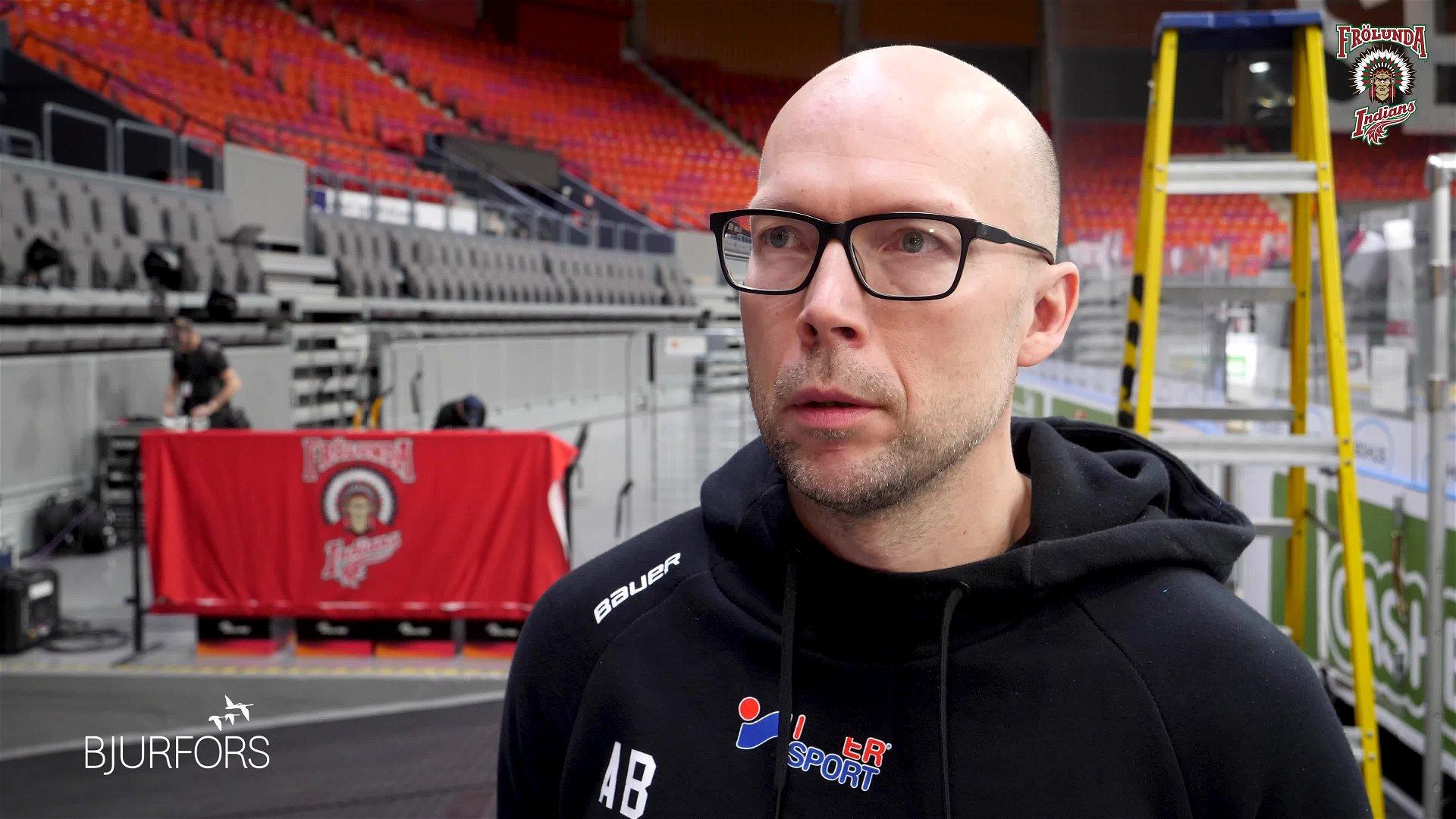 Anders Burström inför Färjestad