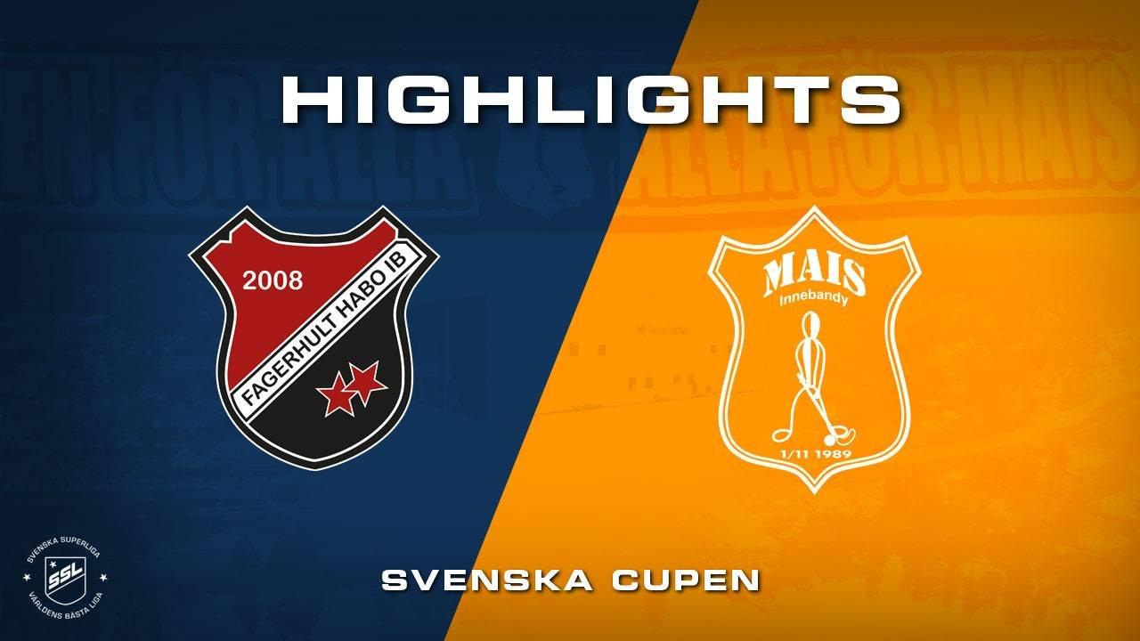 Highlights Fagerhult - Mullsjö AIS - Svenska Cupen