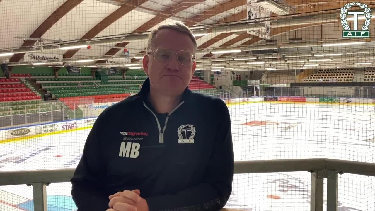 Inför träningsmatchen mot Mörrum Hockey
