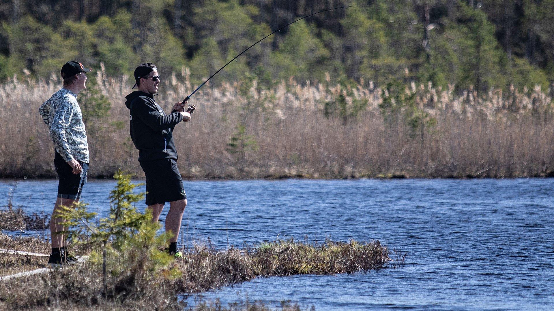 En eftermiddag med bättre väder än fiskelycka