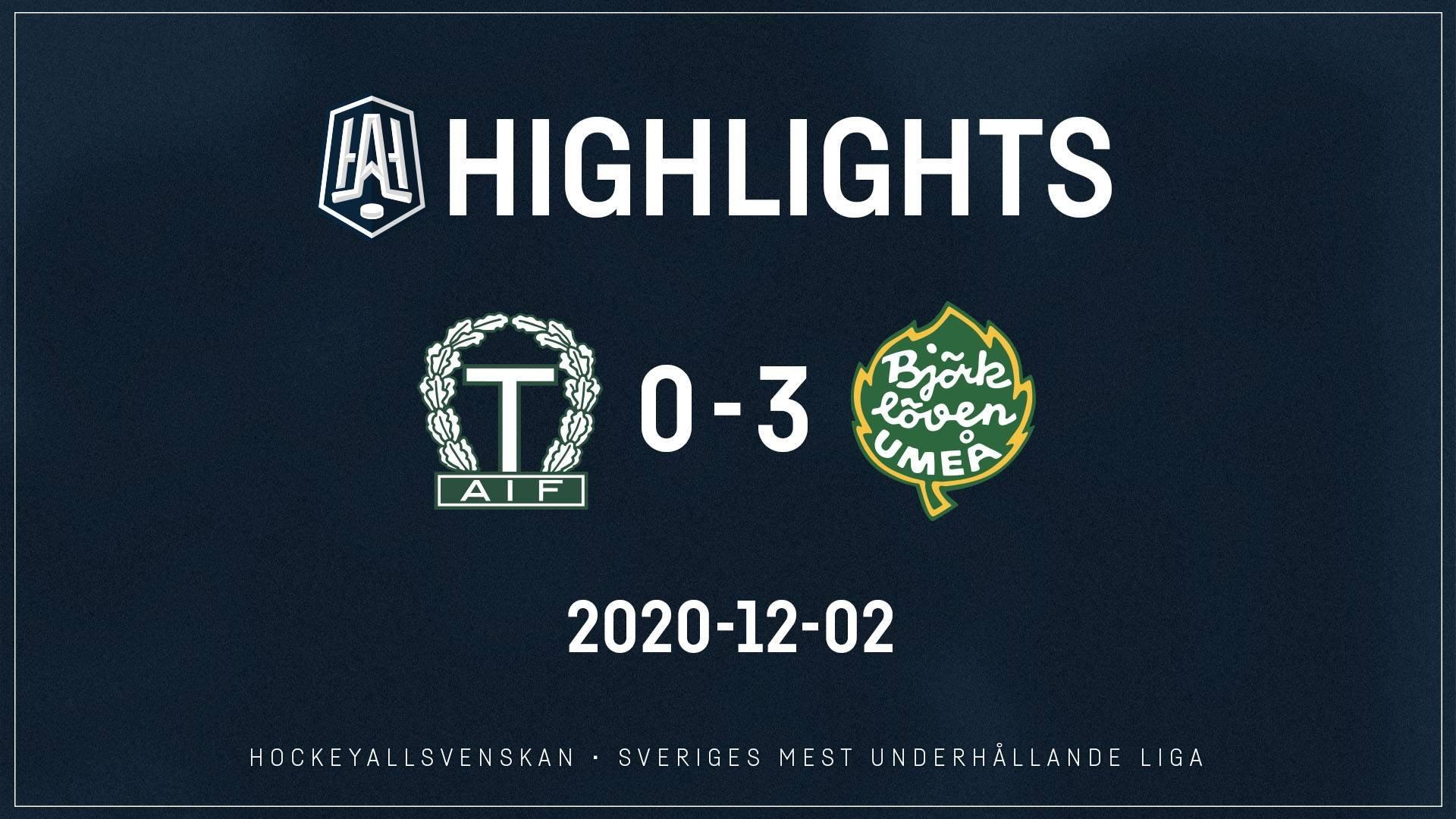 2020-12-02 Tingsryd - Björklöven 0-3