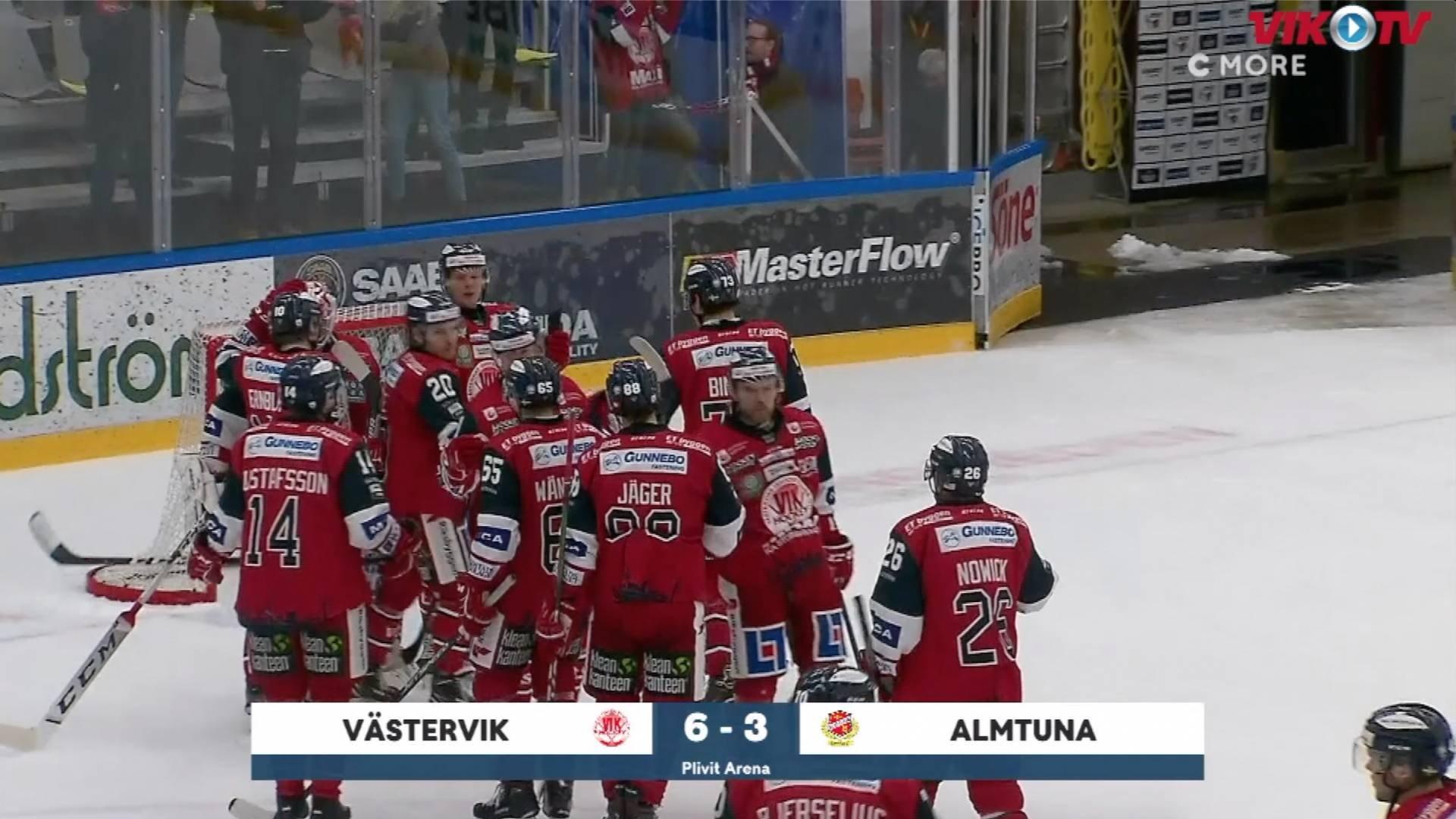 VIK-TV: Highlights Västervik-Almtuna 6-3 från C More
