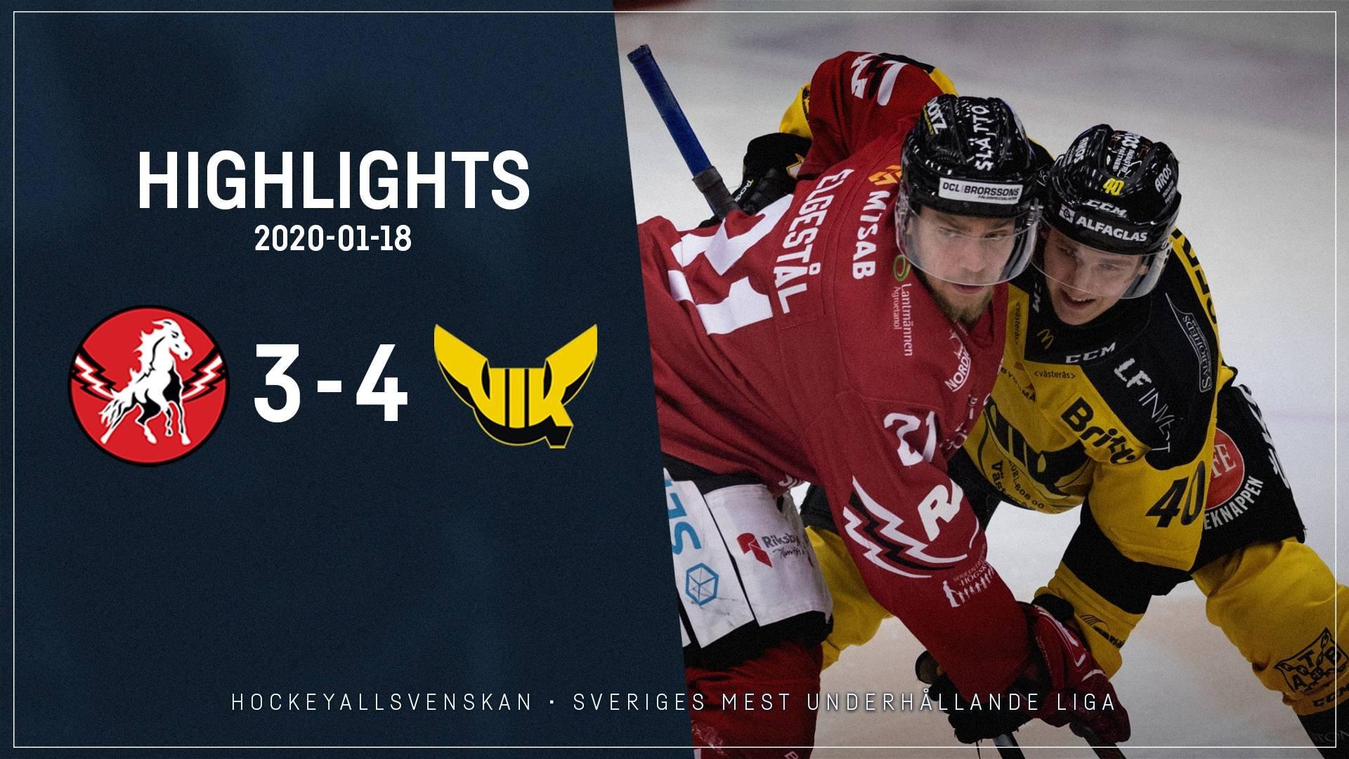 2020-01-18 Vita Hästen - Västerås 3-4