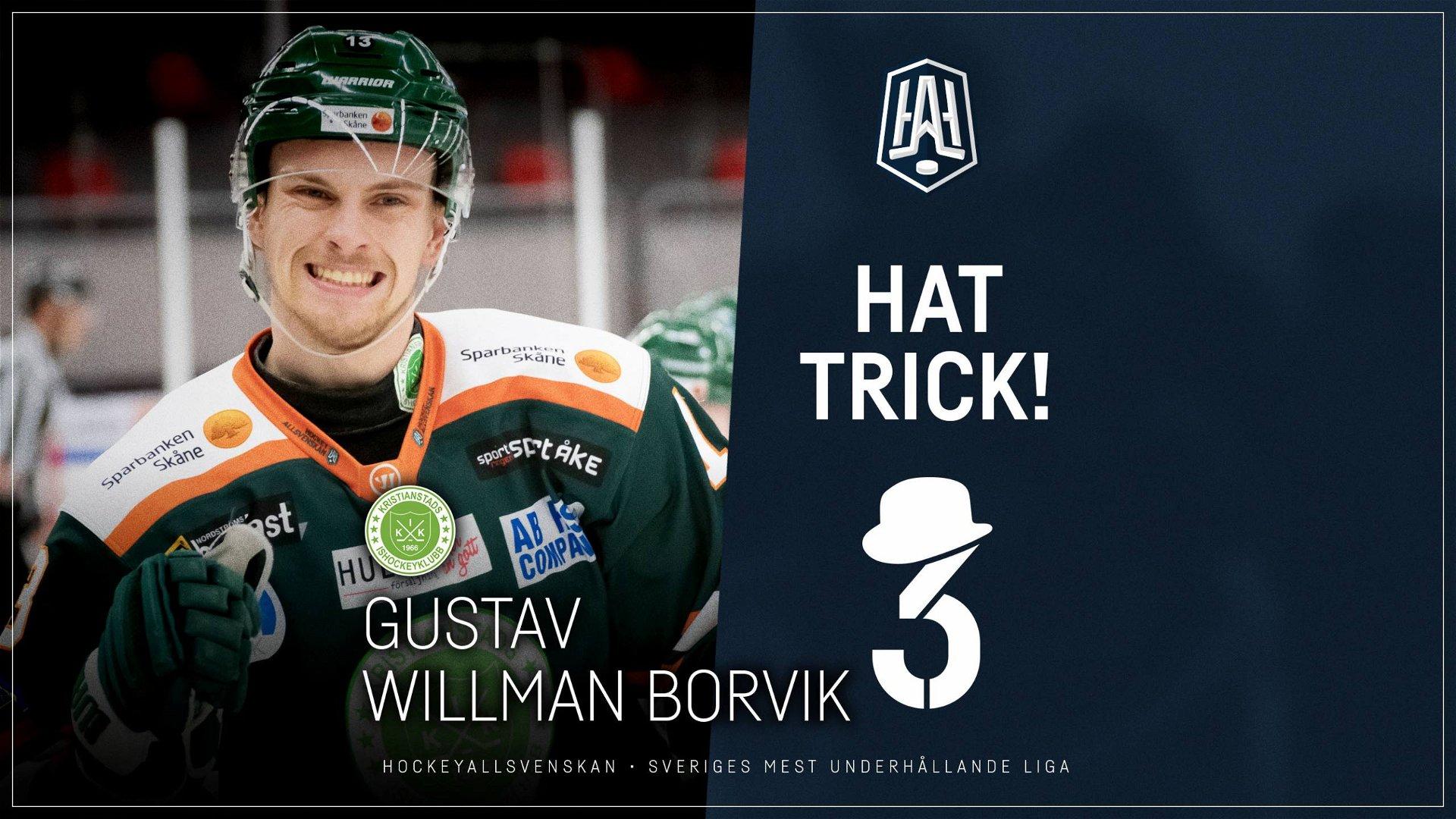 Hattrick: Gustav Willman Borvik, Kristianstad