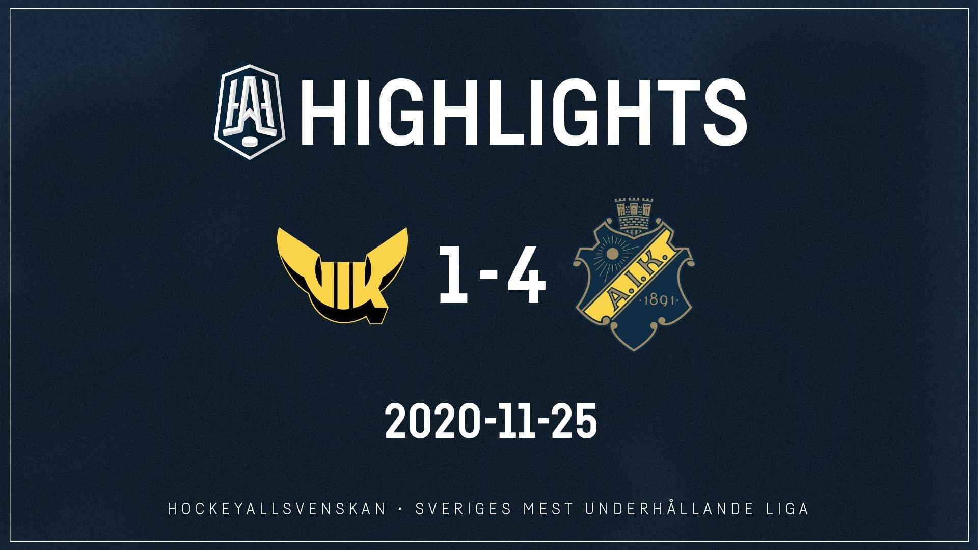 2020-11-25 Västerås - AIK 1-4
