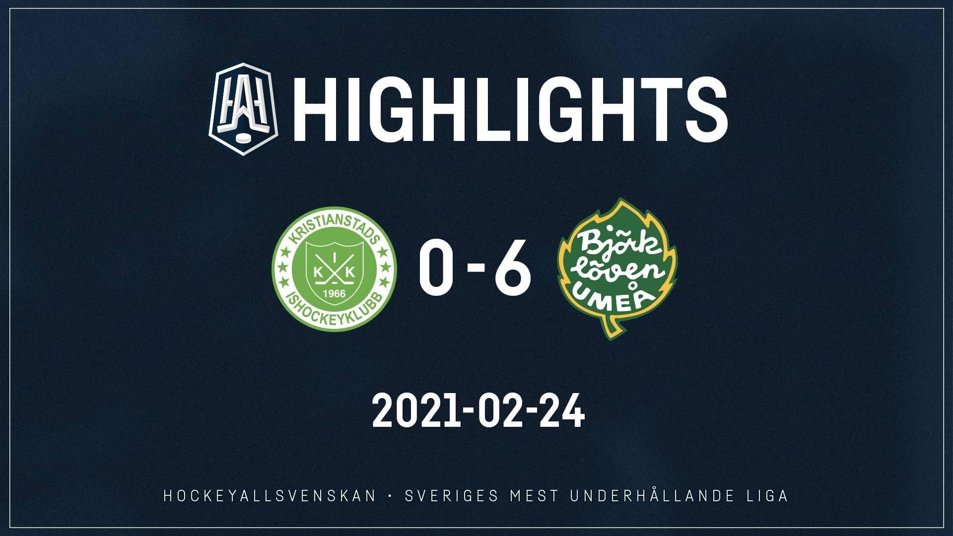 2021-02-24 Kristianstad - Björklöven 0-6