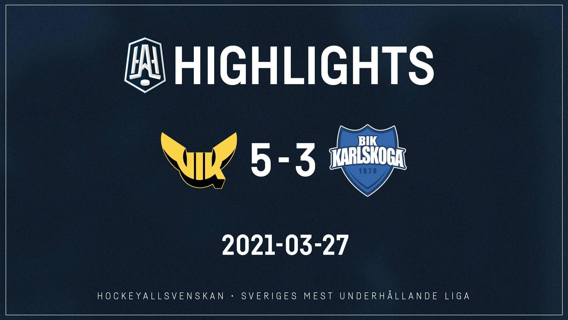 2021-03-27 Västerås - Karlskoga 5-3