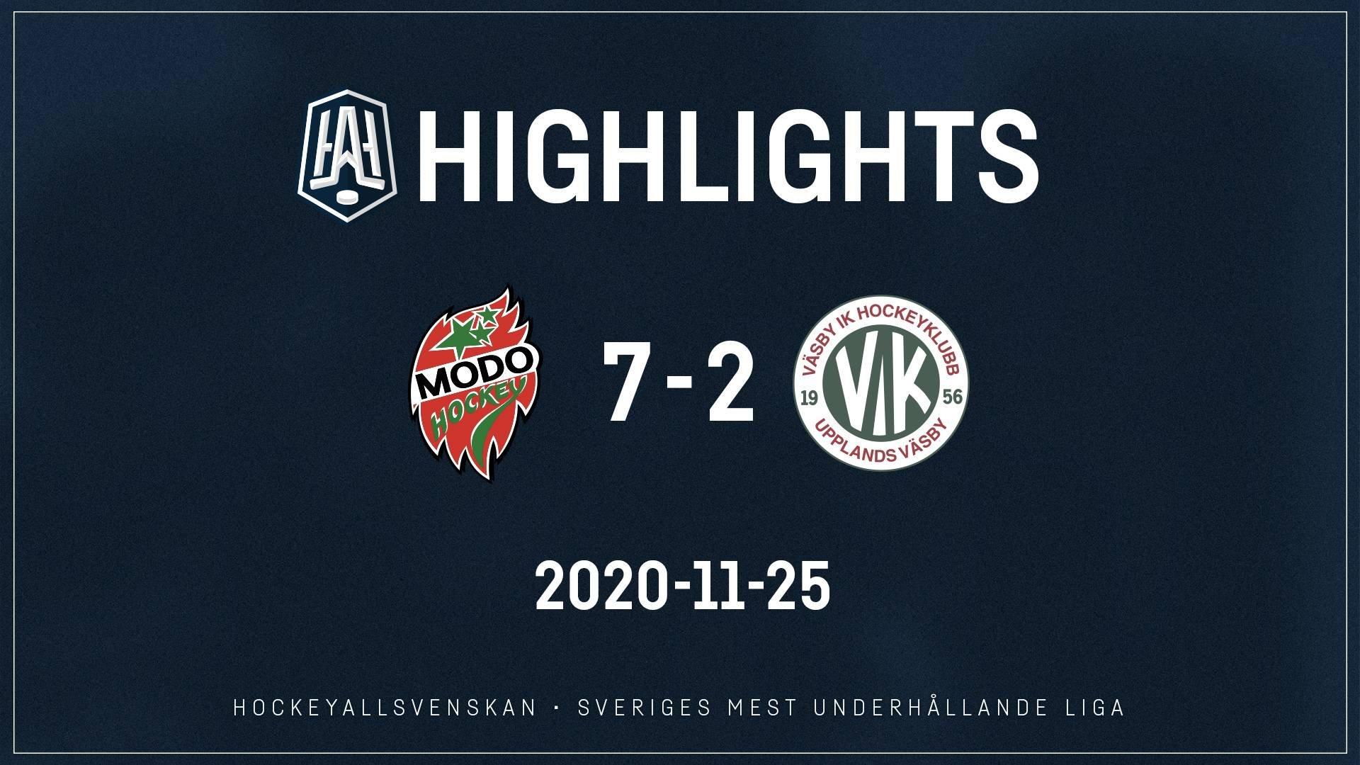 2020-11-25 MODO - Väsby 7-2