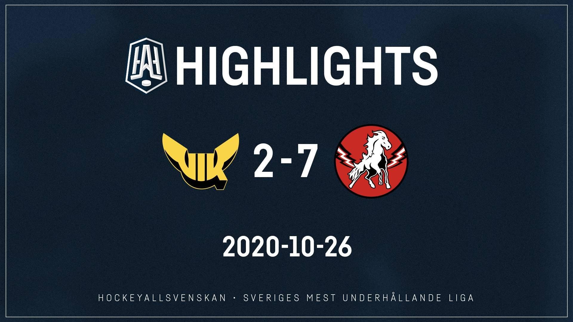 2020-10-26 Västerås - Vita Hästen 2-7