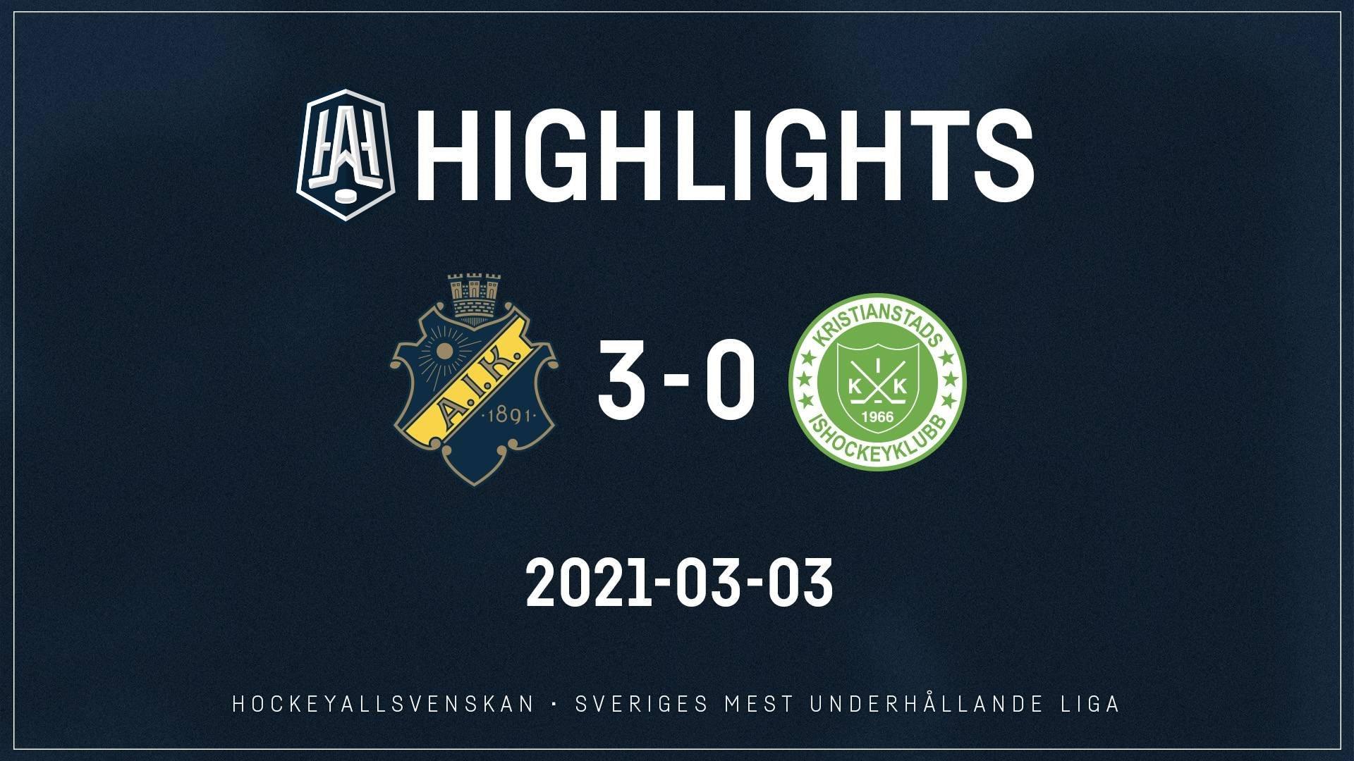 2021-03-03 AIK - Kristianstad 3-0