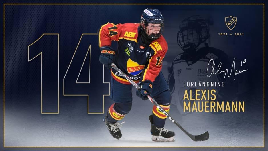 Alexis Mauermann förlänger med Djurgården Hockey