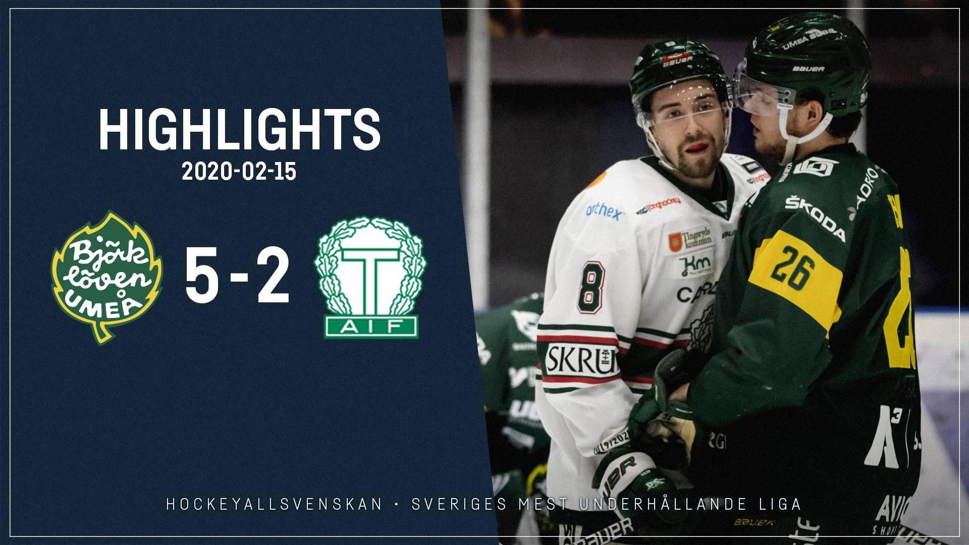 2020-02-15 Björklöven - Tingsryd 5-2
