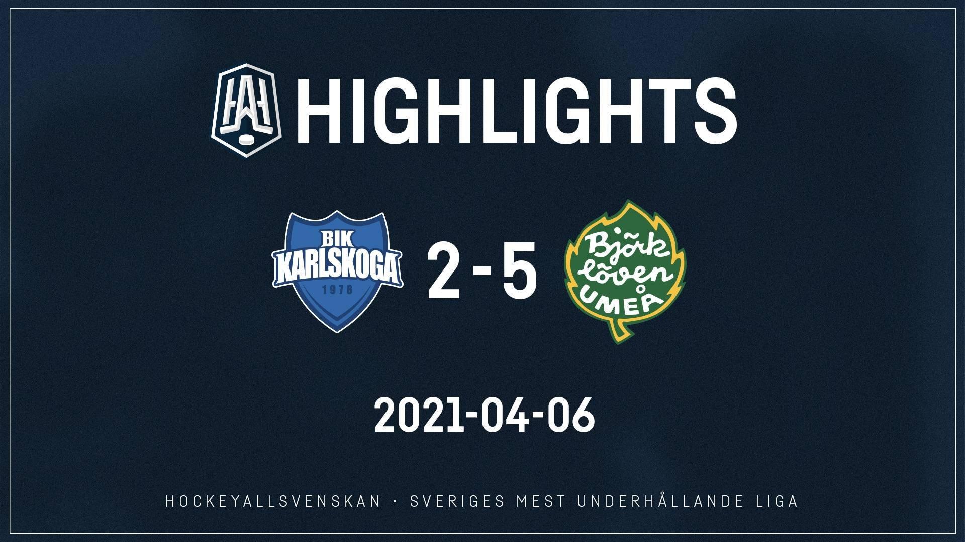 2021-04-06 Karlskoga - Björklöven 2-5