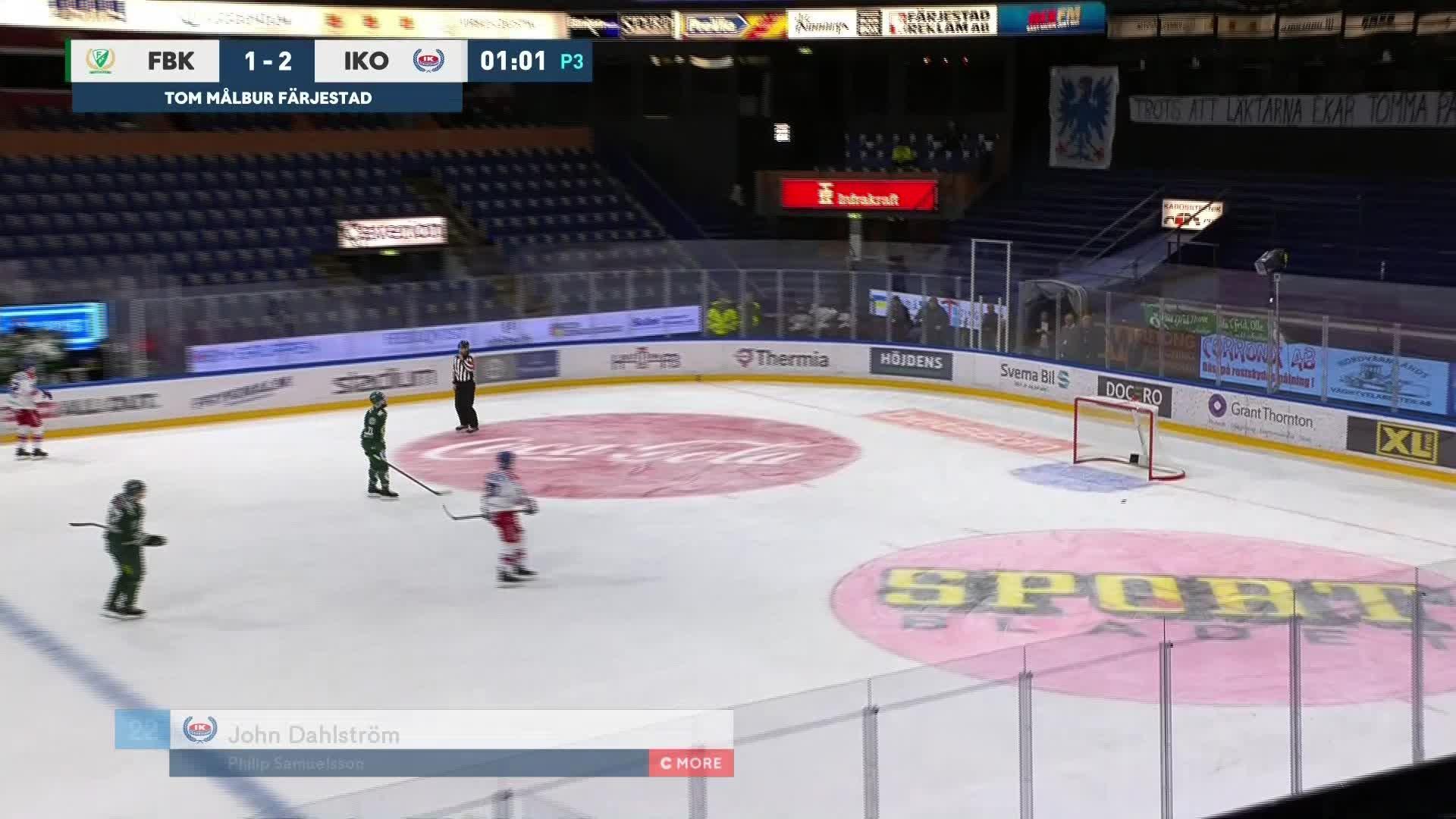 Färjestad BK - IK Oskarshamn 1-3