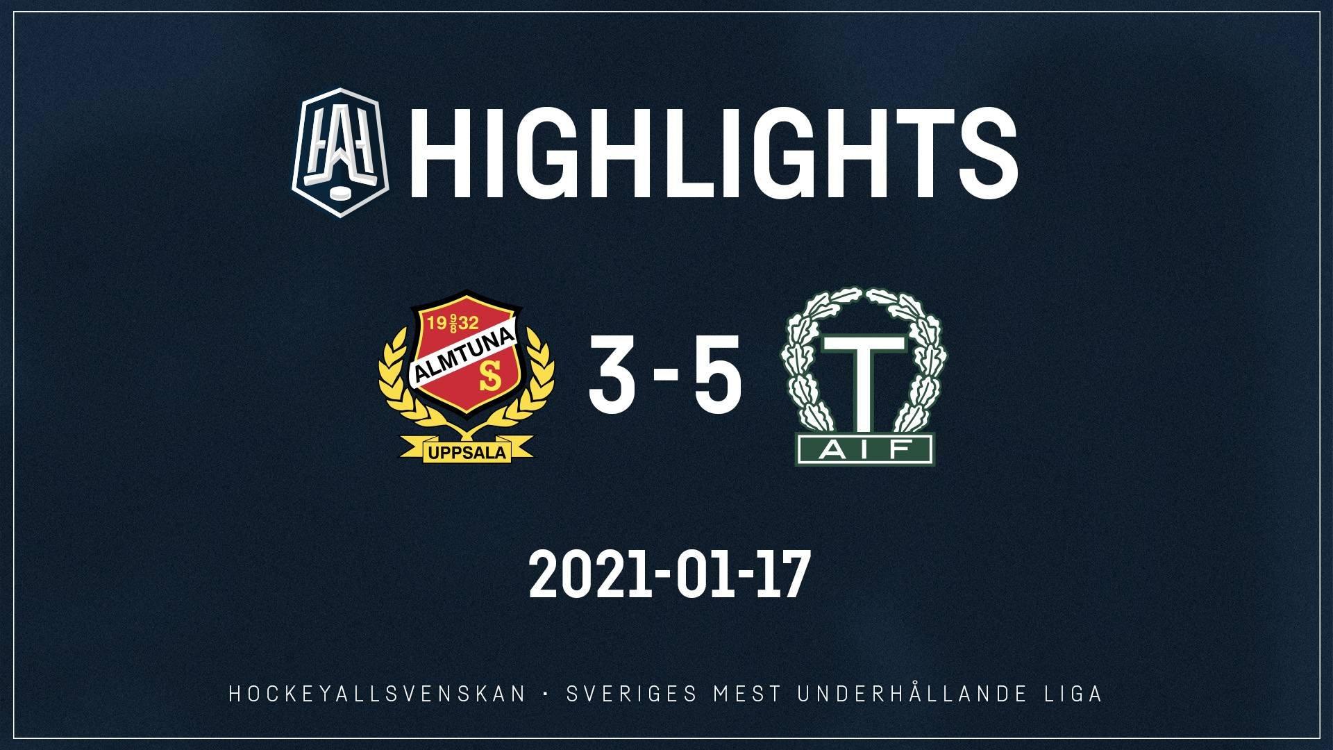 2021-01-17 Almtuna - Tingsryd 3-5