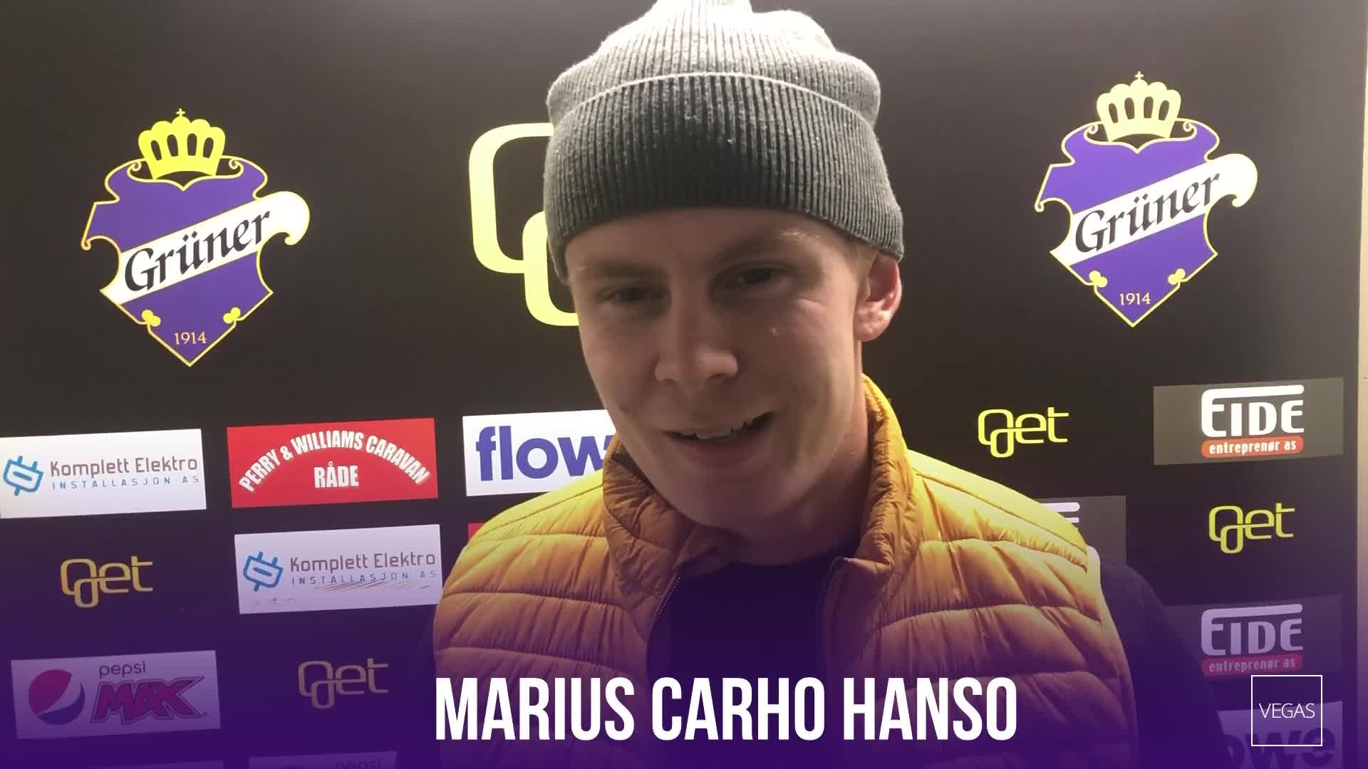 Marius Carho Hansen før MS