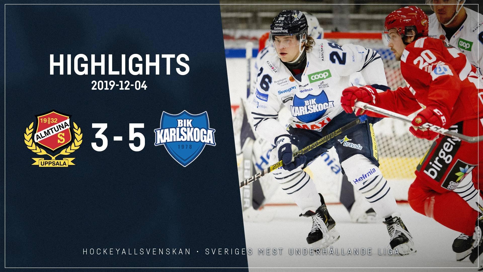 2019-12-04 Almtuna - Karlskoga 3-5