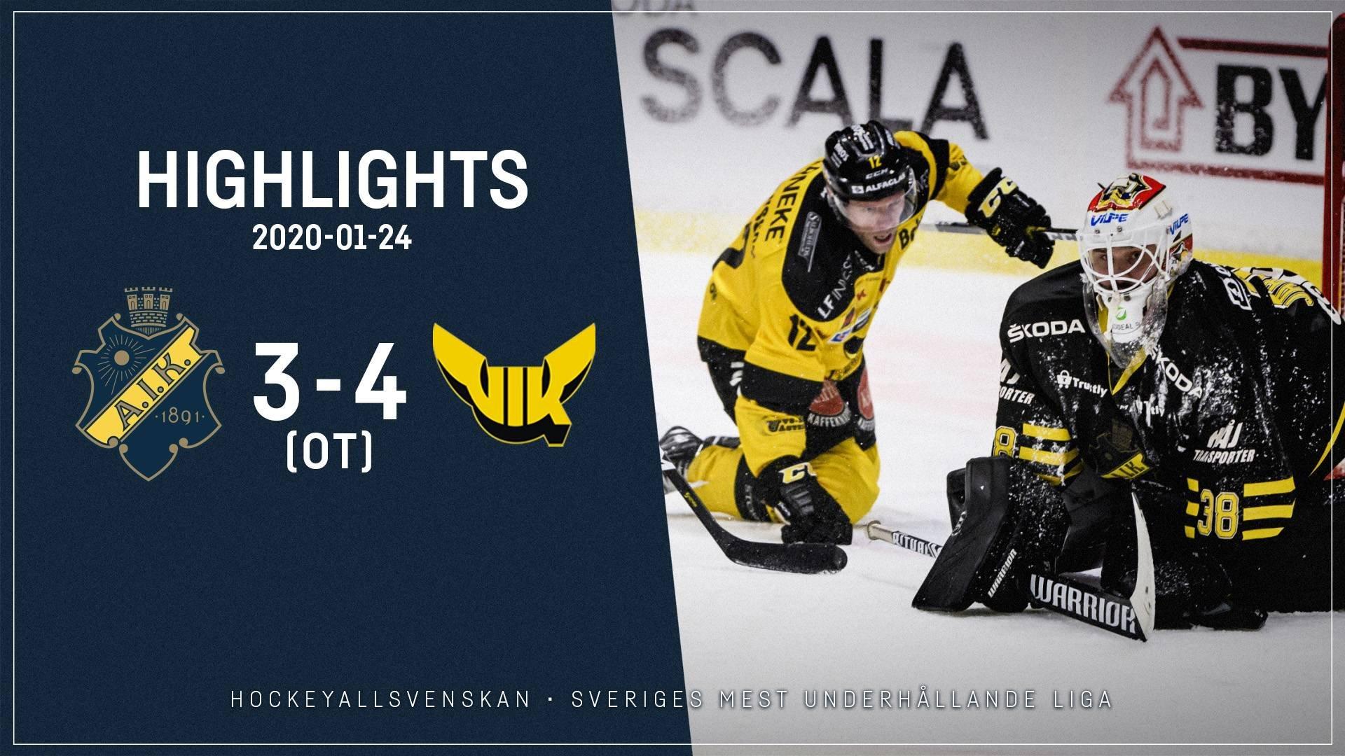 2020-01-24 AIK - Västerås 3-4 (OT)