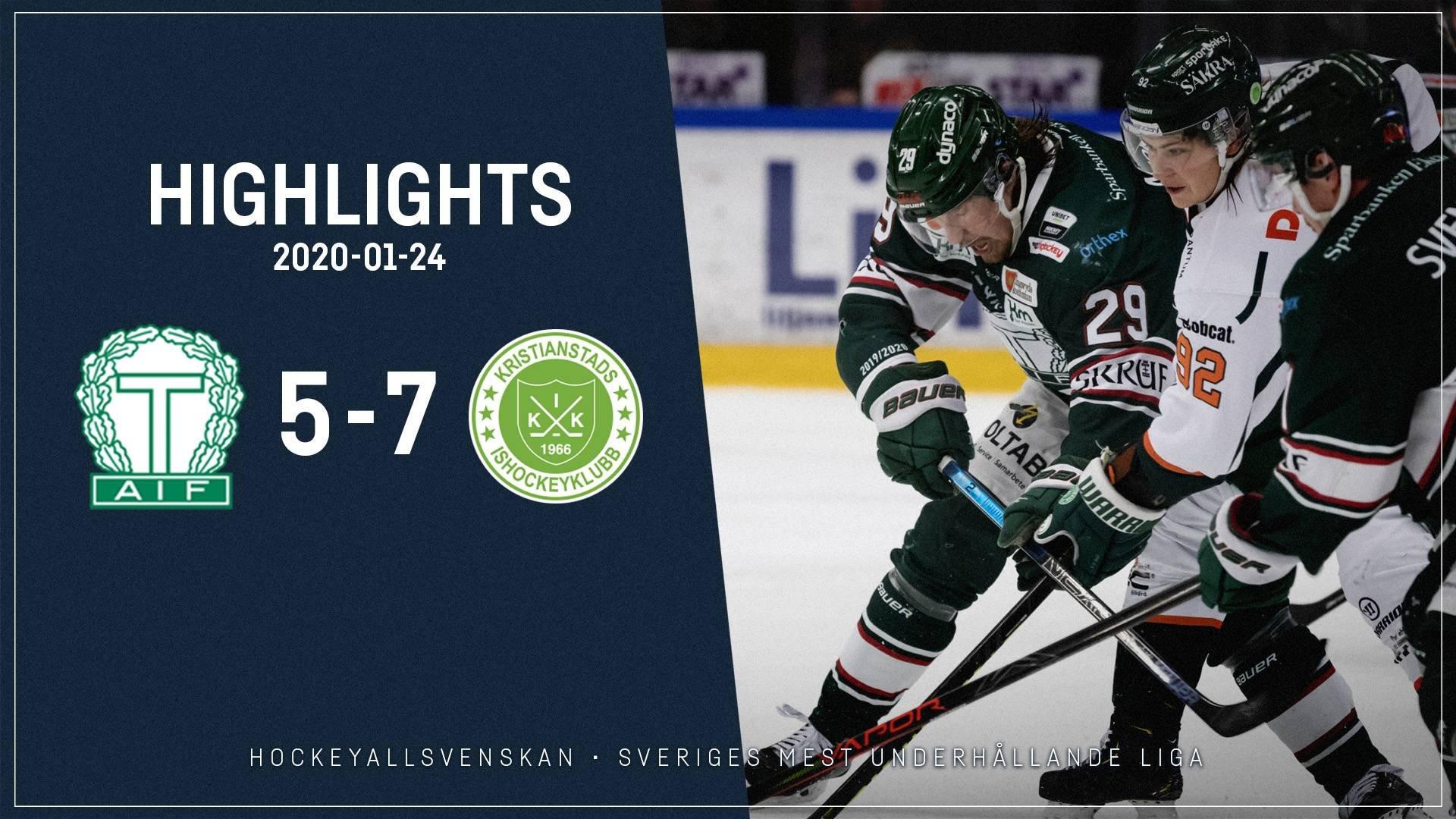 2020-01-24 Tingsryd - Kristianstad 5-7