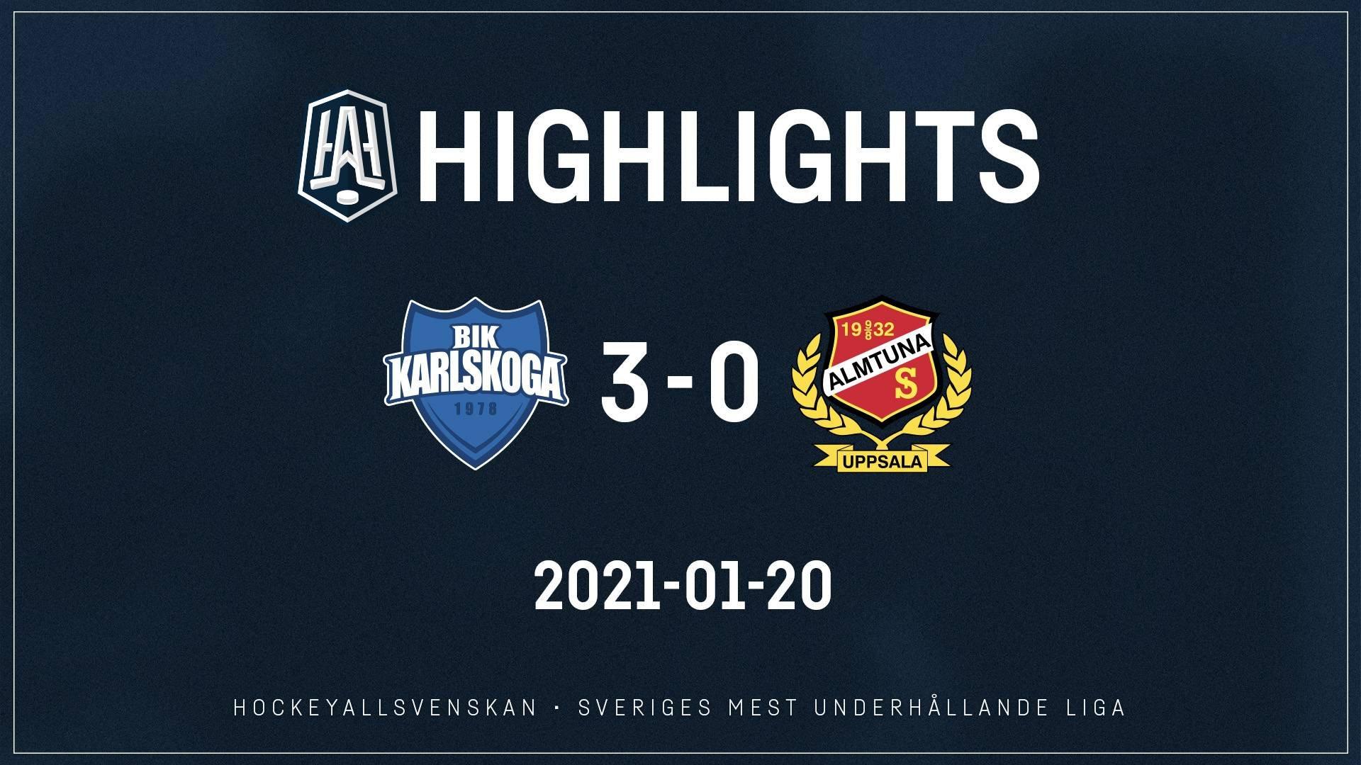 2021-01-20 Karlskoga - Almtuna 3-0