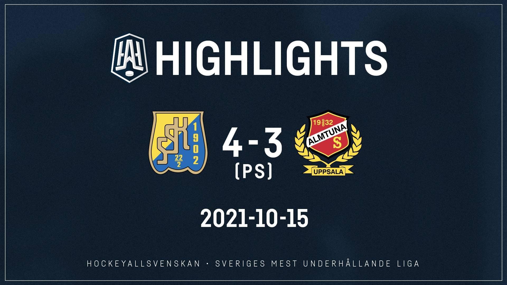 2021-10-15 Södertälje - Almtuna 4-3 (OT)