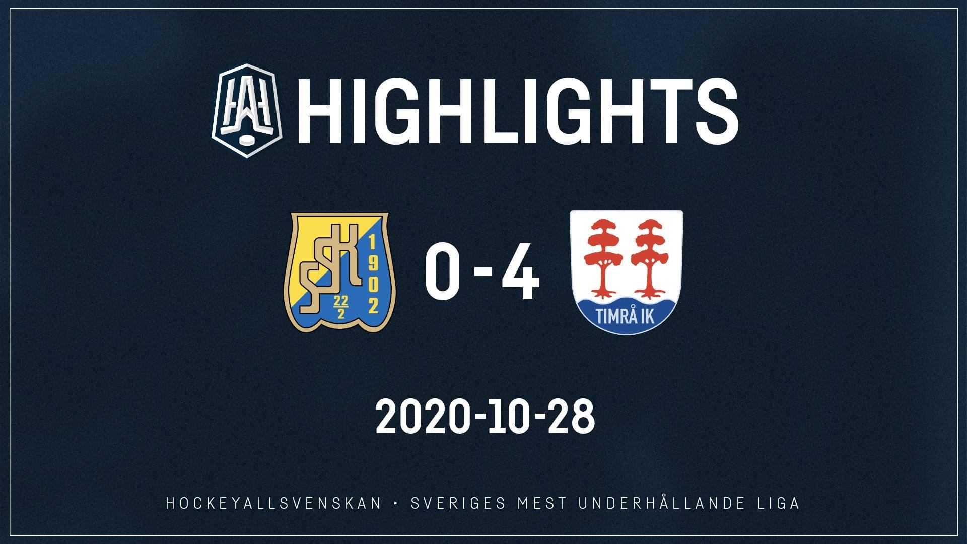 2020-10-28 Södertälje - Timrå 0-4