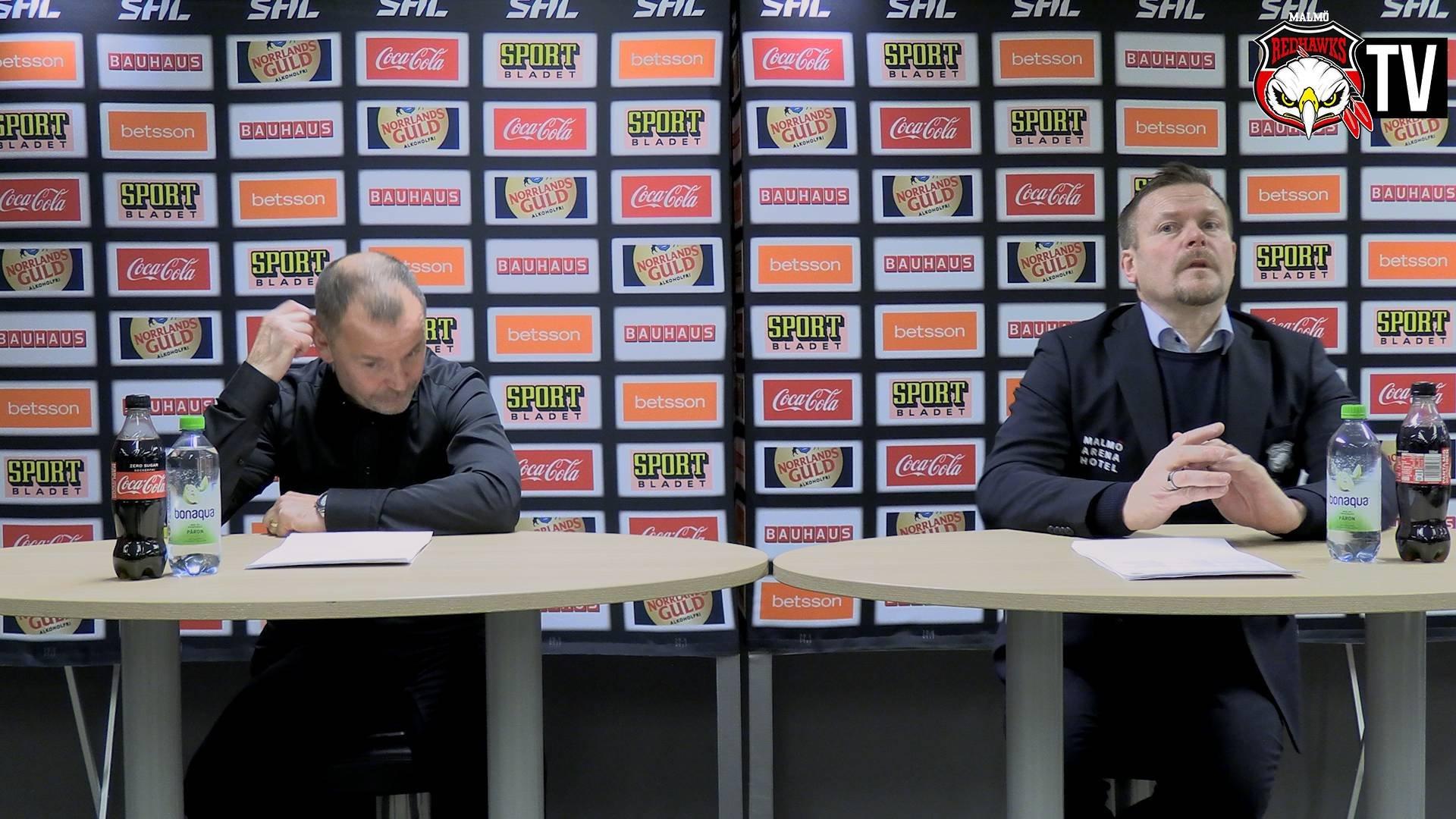 Presskonferens Malmö - Luleå