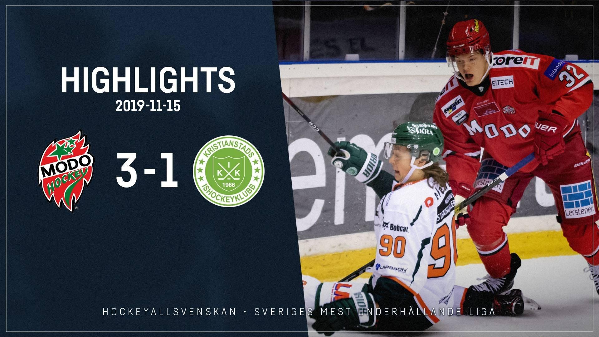 2019-11-15 MODO - Kristianstad 3-1